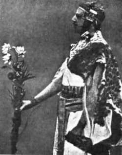 Photo: Probably the most used photo of Samuel Liddell MacGregor Mathers during an Egyptian Ritual