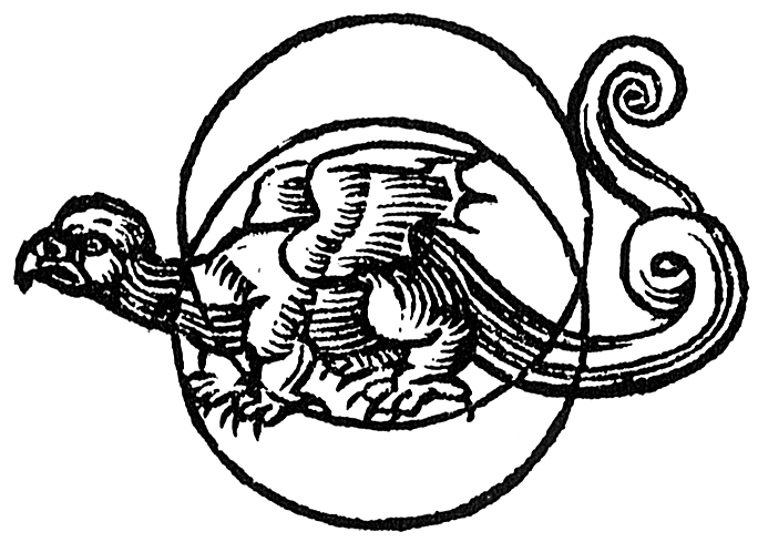The moondragon - one of the images of the moon sphere in Book Two of De Occulta Philosophia