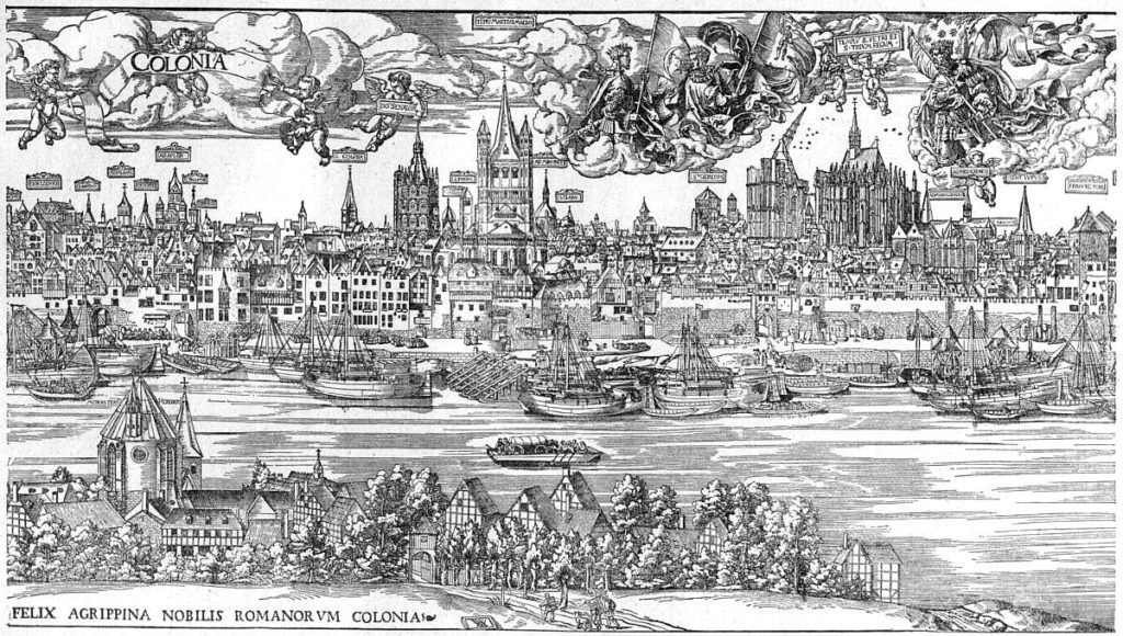 Köln - Cologne 1531, according to a woodcut by Anton by Worms