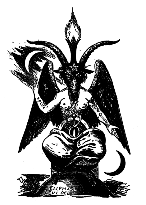 Baphomet - The famous black white drawing by Eliphas Levi