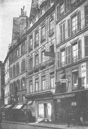 Birth house of Eliphas Lévi - No. 5 Rue des Fossés-Saint-Germain-des-Prés, nowadays Rue de l'Ancienne-Comédie.