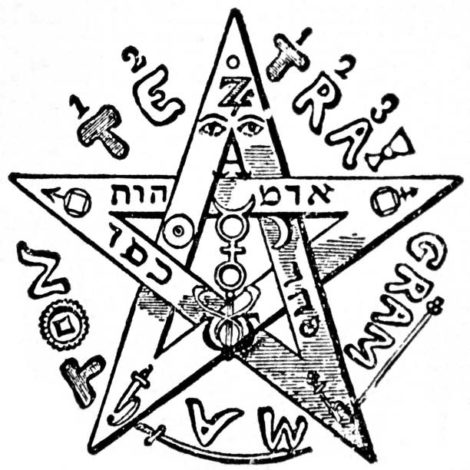 Eliphas Levi's upright pentagram with Tetragrammaton