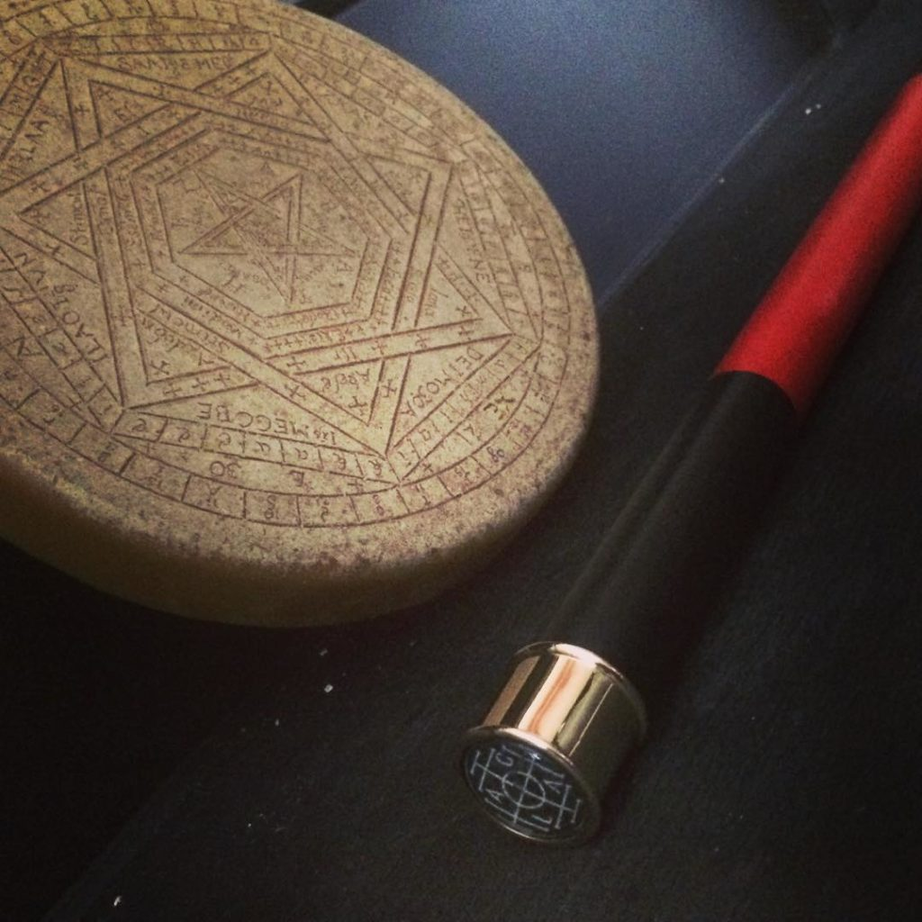 Enochian wand and sigillum dei aemeth in bee wax