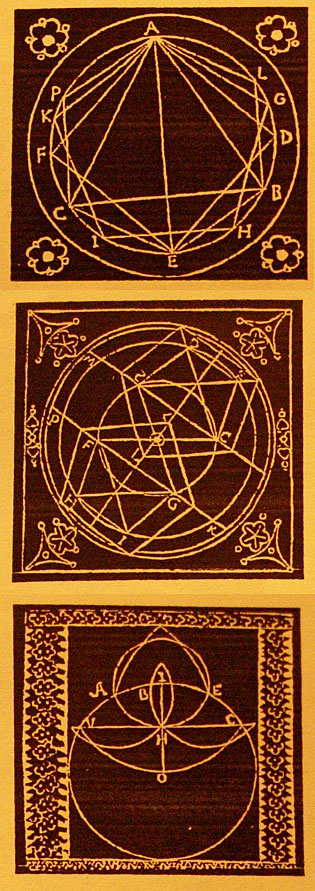 "Three Memory seals or ""mnemonic devices"" by Giordano Bruno"