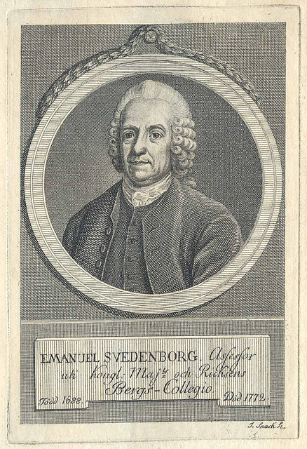 Copperplate with Emanuel Swedenborg, the Swedish Scientist, Theosoph and Seer.