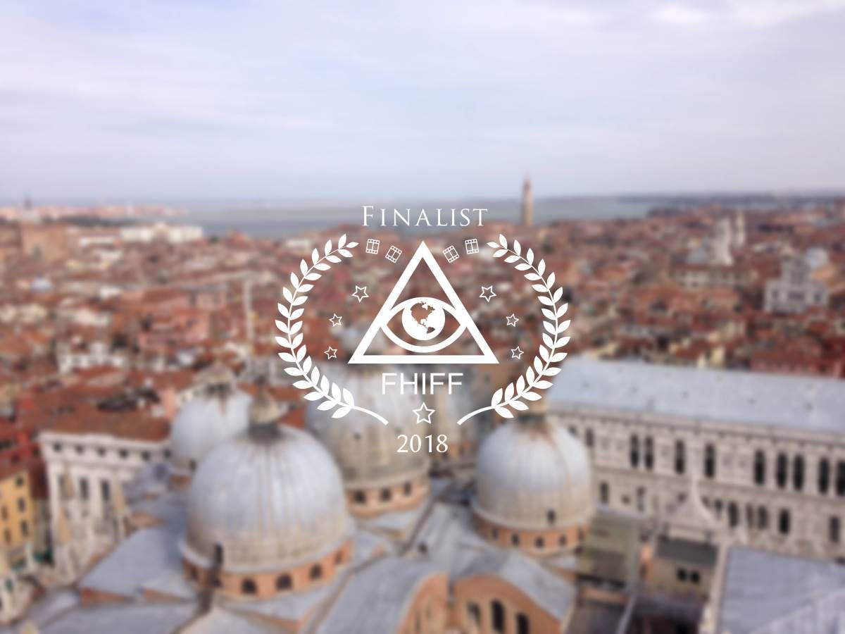City of Venice from above with Logo of FHIFF 2018