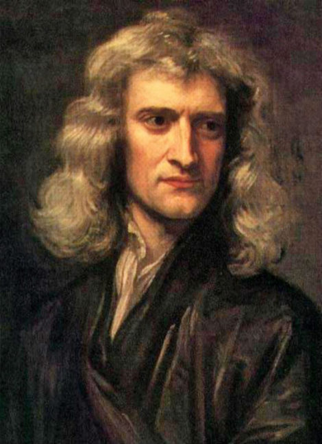 Sir Isaac Newton • Portrait by Godfreyd Kneller (1689)