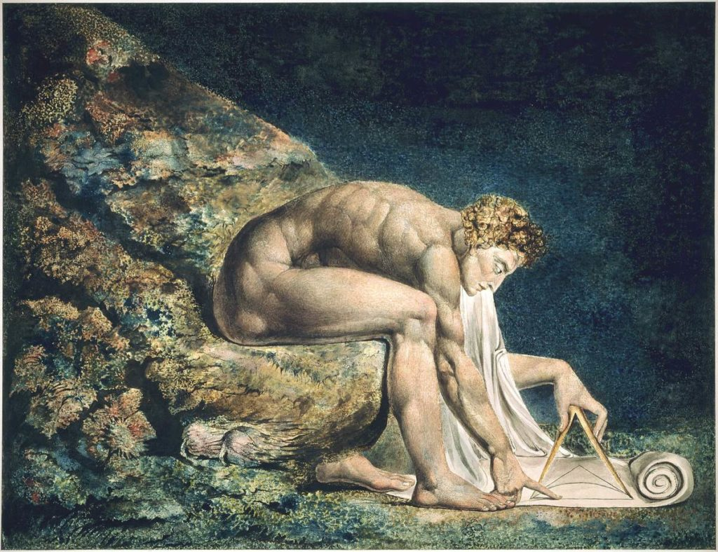 »Newton« A painting by William-Blake