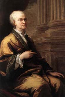 Portrait of the old Isaac Newton (1643-1727) by James Thornhill