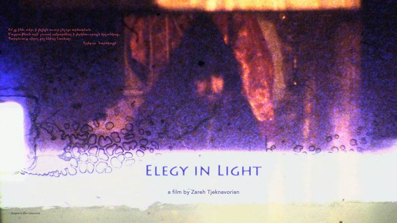 "Film poster for doku short film "" Elegey in Light""."