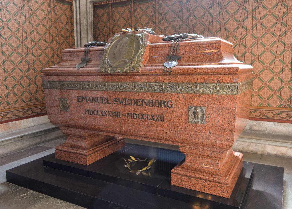 Emanuel Swedenborg's Tomb in the Uppsala Cathedral, Sweden