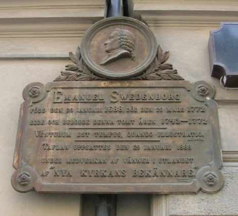 Swedenborg's place of birth is commemorated at Hornsgatan 43, in Stockholm, Sweden.