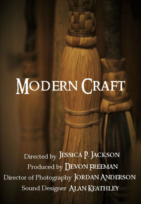 Witchy Broomsticks. Modern Craft - Film poster for the documentary by Jessica P. Jackson