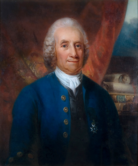 Portrait of Emanuel Swedenborg by Carl Frederik von Breda, made sometime before 1818