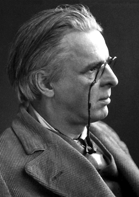 Golden Dawn member and magician William Butler Yeats (image: about 1923, Anonymous) confirmed his respect for Swedenborg on the occasion in his Nobel Prize Banquet speech.