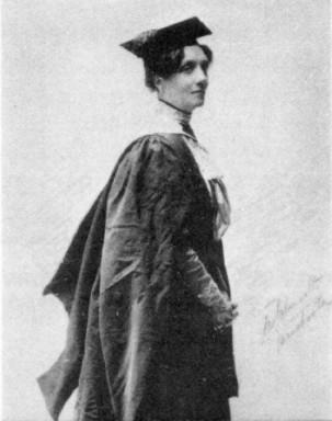 Annie Hornieman. Black and white photograph.