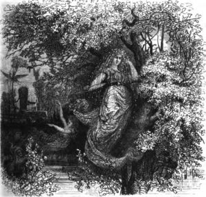 """Holda, the good protectress"", by Friedrich Wilhelm Heine, published in 1882."