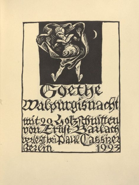 "Cover page of Goethe's ballad ""the first Walpurgis night"""