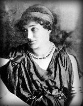 "Photo of Florence Farr as Aleel in her performance at the Abbey Theatre, a role from ""The Countess Cathleen"" written by William Butler Yeats."