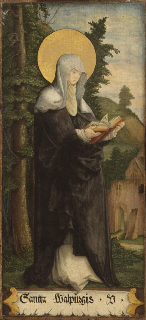 """Saint Walburga"" at St. Martin's Church in Messkirch, by Master of Messkirch, sometime around the 1500s."