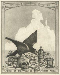 Coverpage of the book »Le Mystère des Cathédrales« by Fulcanelli (1926). Illustration by Jean Julien Champagne.