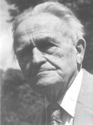 German Alchemist Alexander von Bernus at the age of 77 in 1957, Portrait, close-up, black white source unknown