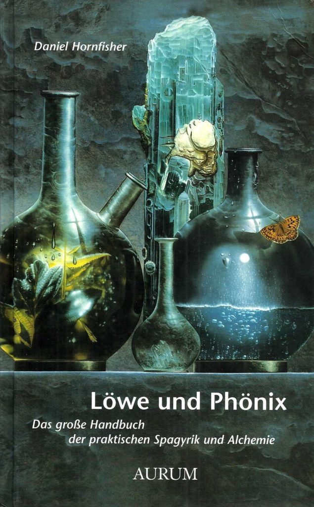 "Book cover for ""Löwe und Phönix"" (english: Lion and Phoenix) by Daniel Hornfisher. Appered in 1998 in the German publishing house ""Aurum Verlag"""