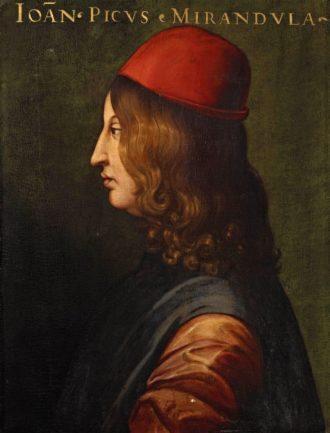Giovanni Pico della Mirandola (1463-1494) as painted by 16th century artist Cristofano dell'Altissimo (1525–1605).