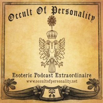 """Occult of Personality"" - The first logo of the occult / esoteric podcast from approximately 2005 or 2006."