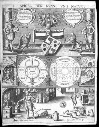 Michelspacher, Cabala, speculum artis et naturae... - Allegories on Alchemy
