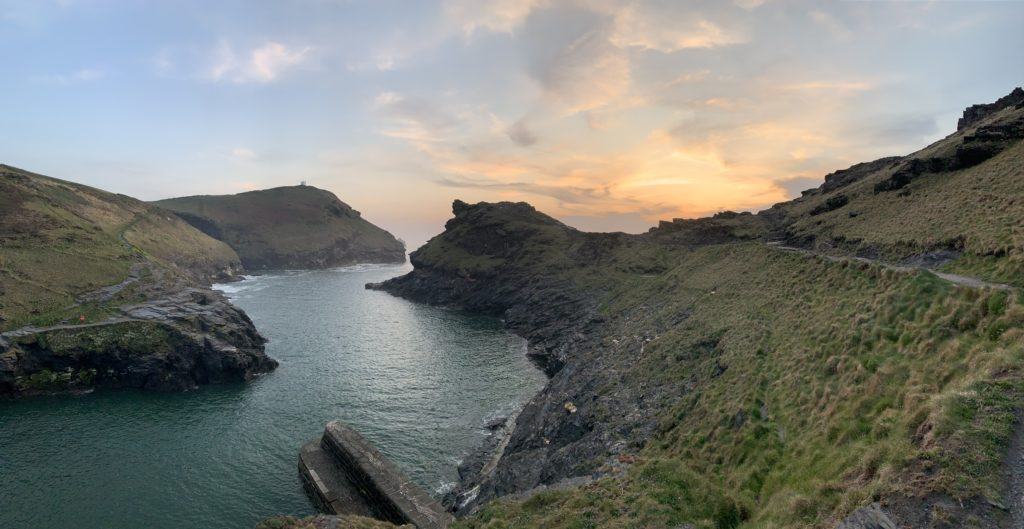 The Shores of Boscastle - River flowing into the open sea