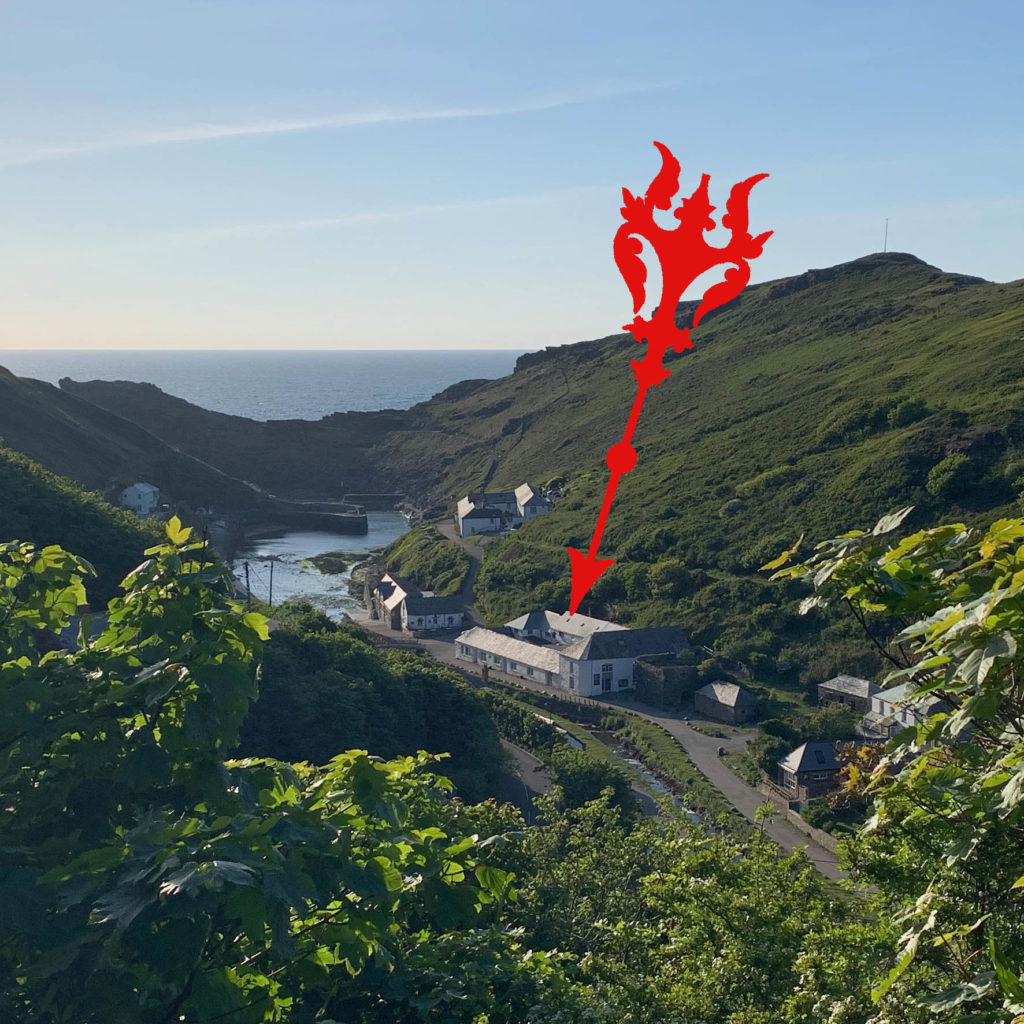 Location of the »Museum of witchcraft and Magic« in Boscastle, Cornwall