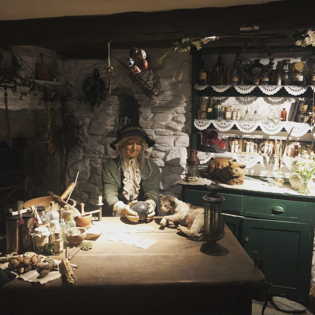 The »wise woman's cottage« in the »museum of witchcraft and magic« in Boscastle